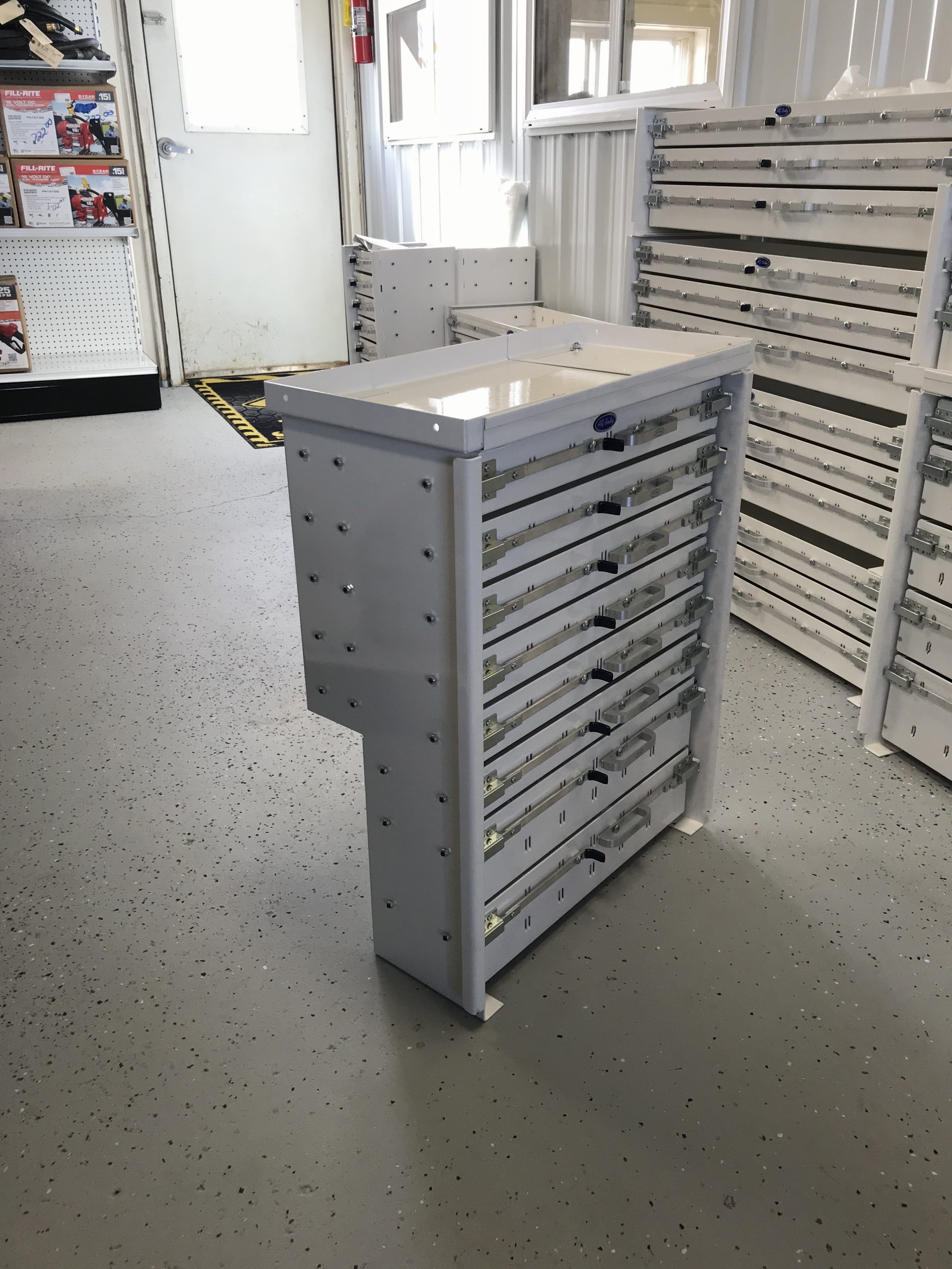 Truck Tool Box With Drawers >> AG Body 8 Drawer Unit - Dickinson Truck Equipment